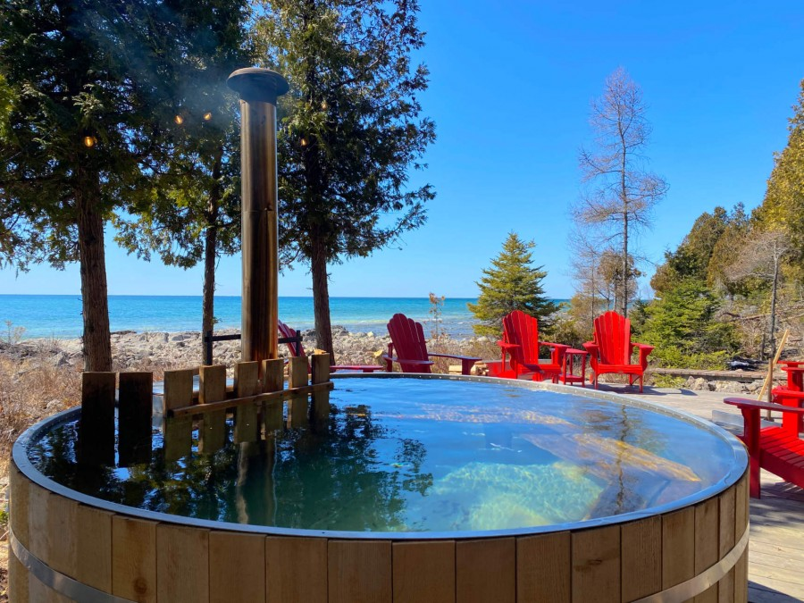 Hot Tub on Lakeview Deck