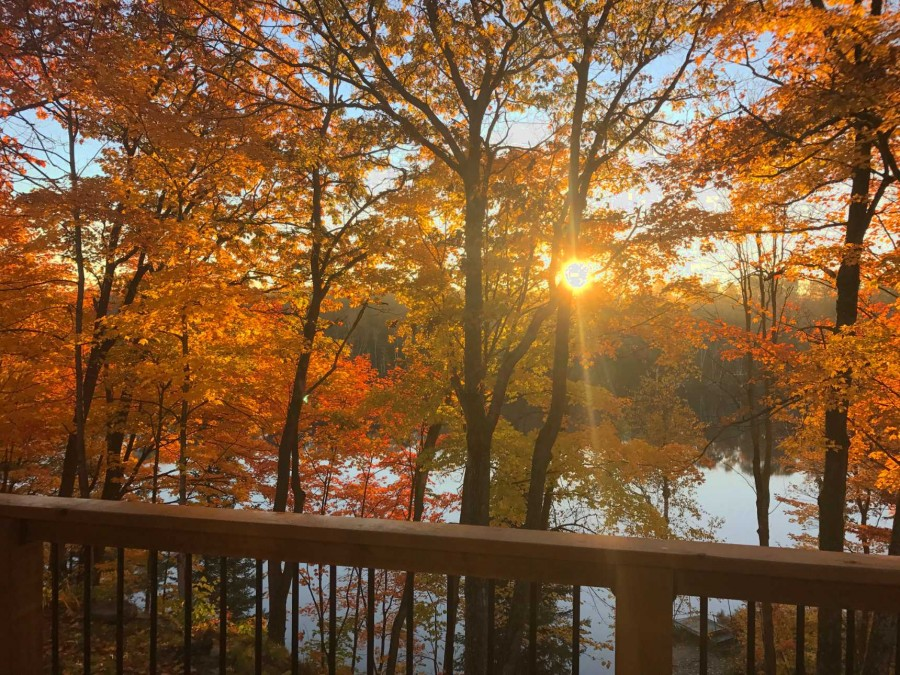 Fall View of Lake from Deck