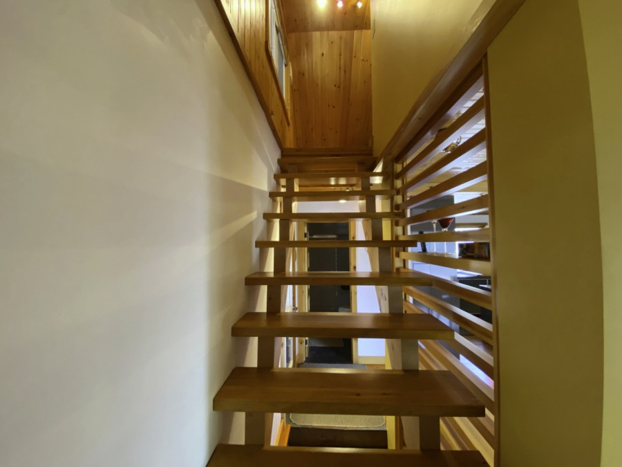 Stairs from Main Level to Upper Level