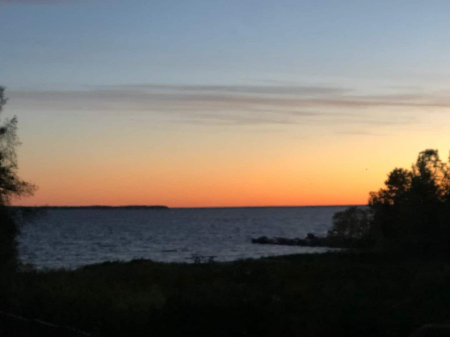 View of Sunset from cottage