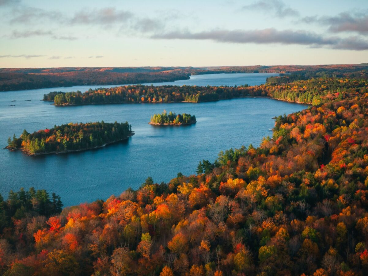 overview of Ontario in the fall