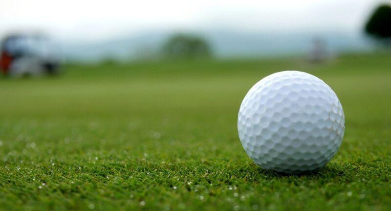 upclose image of golf ball